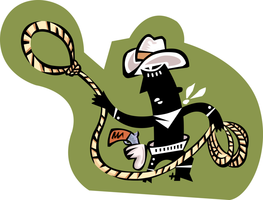picture free download Lasso clipart lariat. Rodeo cowboy with vector.