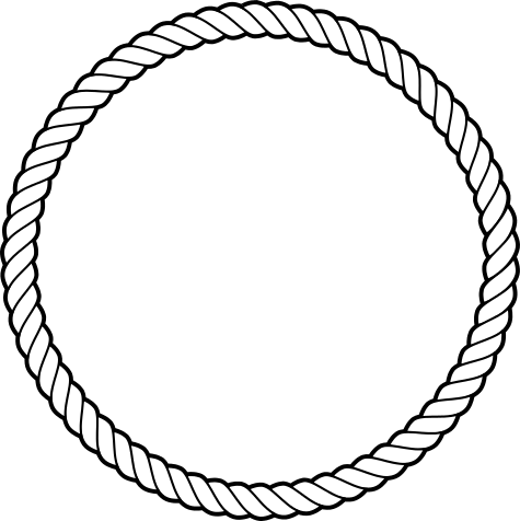 graphic transparent library Rope Circle Cliparts
