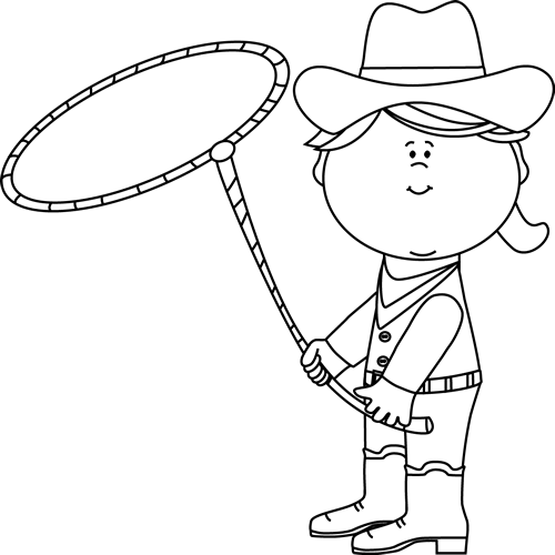 png freeuse Western black and white clipart. Cowgirl with a lasso
