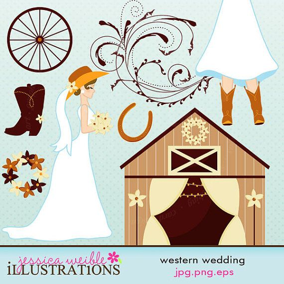 banner library download Cute digital commercial use. Western wedding clipart images