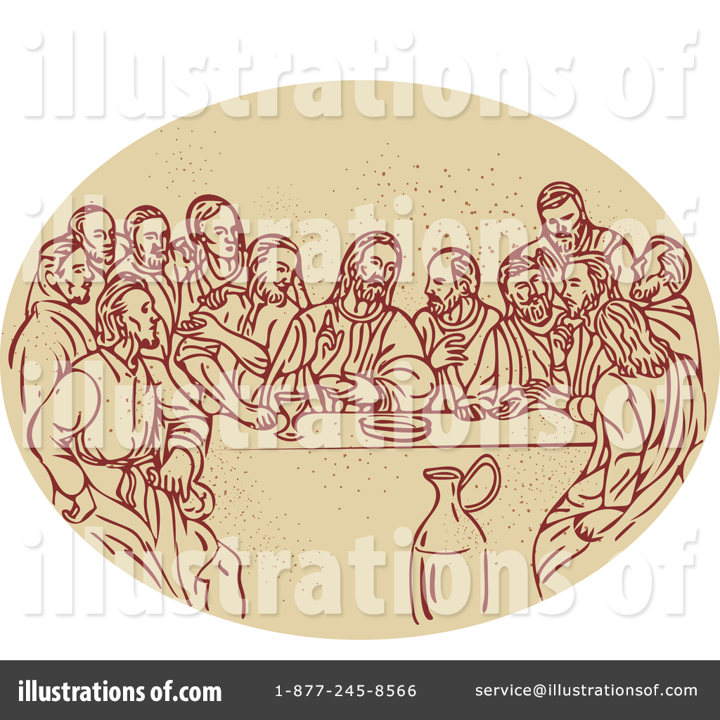 graphic library Last of clipart illustration. Supper by patrimonio .