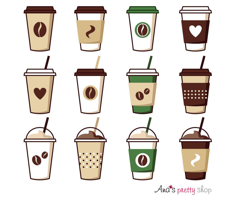 png black and white library Coffee cup vector illustrations. Latte clipart