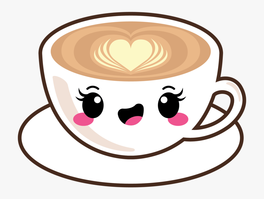 graphic free library Cute kawaii coffee stickers. Latte clipart