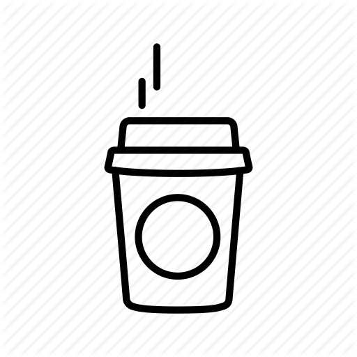 picture library stock Starbucks coffee cup background. Latte clipart outline.