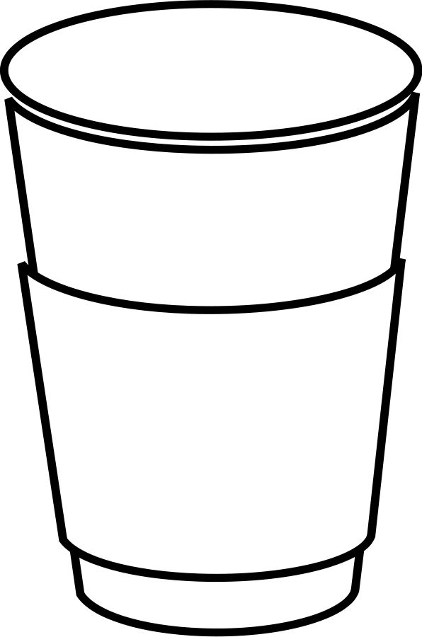 jpg transparent download outline of coffee cup