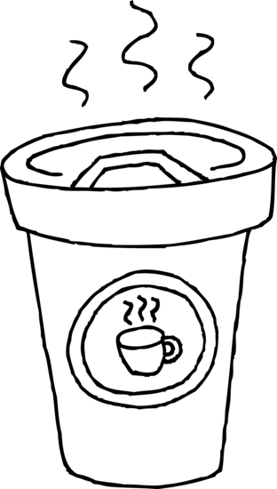 clip art free download Cup of coffee coloring. Latte clipart outline.