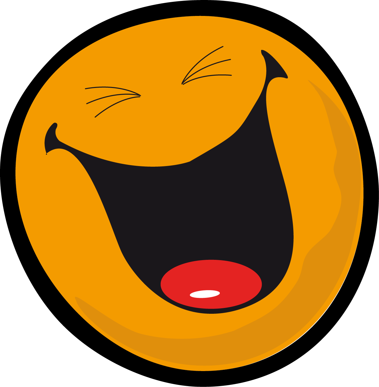 vector transparent Very face smiley clipartly. Laugh clipart