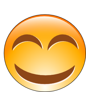 banner free stock Smiley clip art at. Laughing clipart