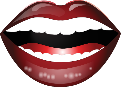 clip art transparent Laughing Mouth Smiley Emoticon Clipart