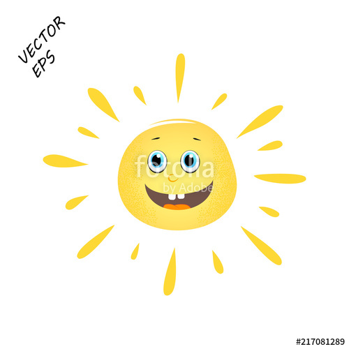 image royalty free stock Sun on isolated background. Laughing vector