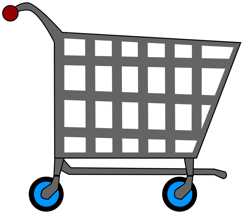 banner black and white library Laundry shopping transparent free. Supermarket clipart grocery basket.