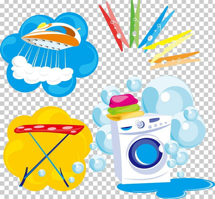 clipart stock Vector bubble laundry. Washing machine clothes iron