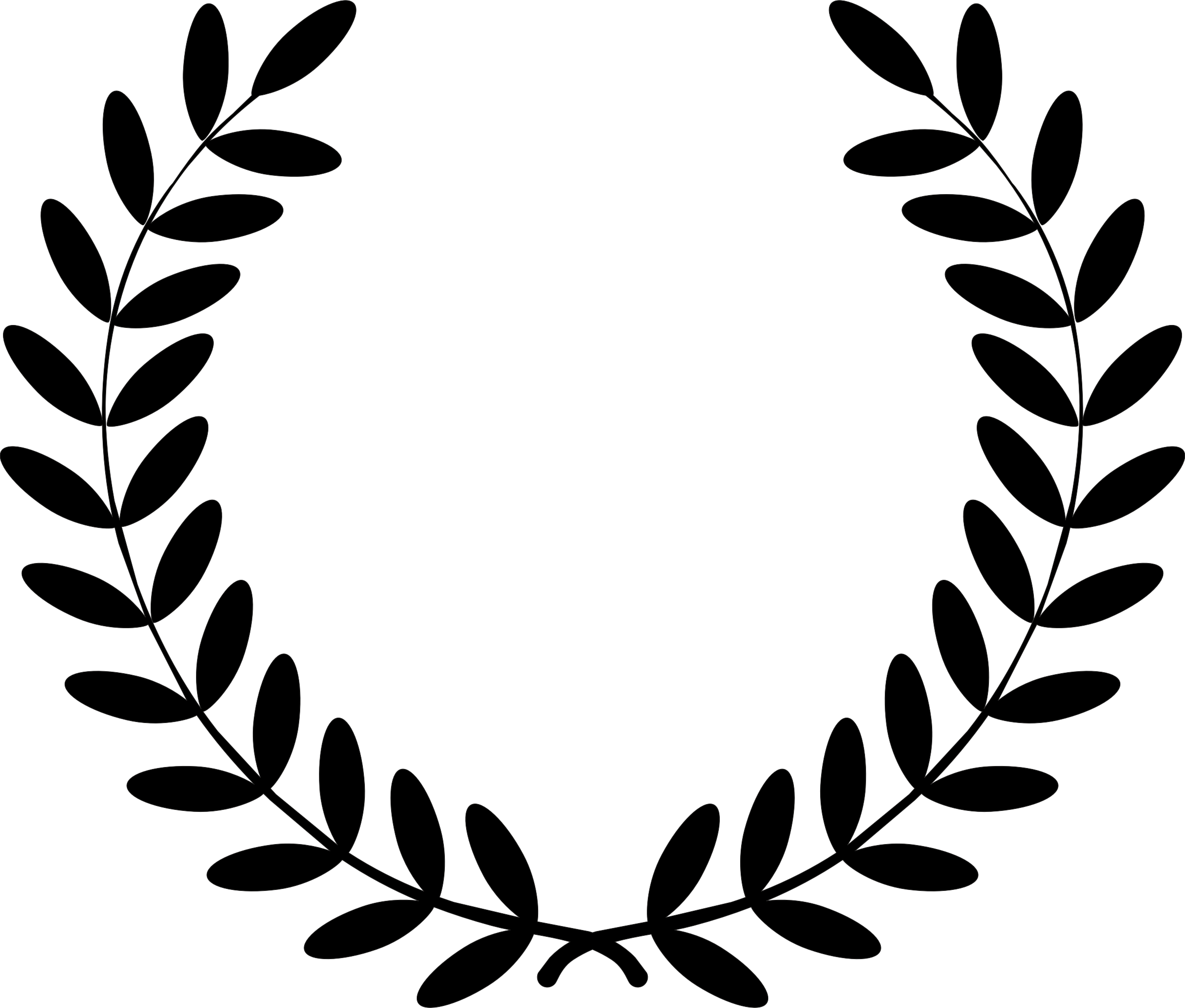 svg royalty free library Free Laurel Wreath Cliparts