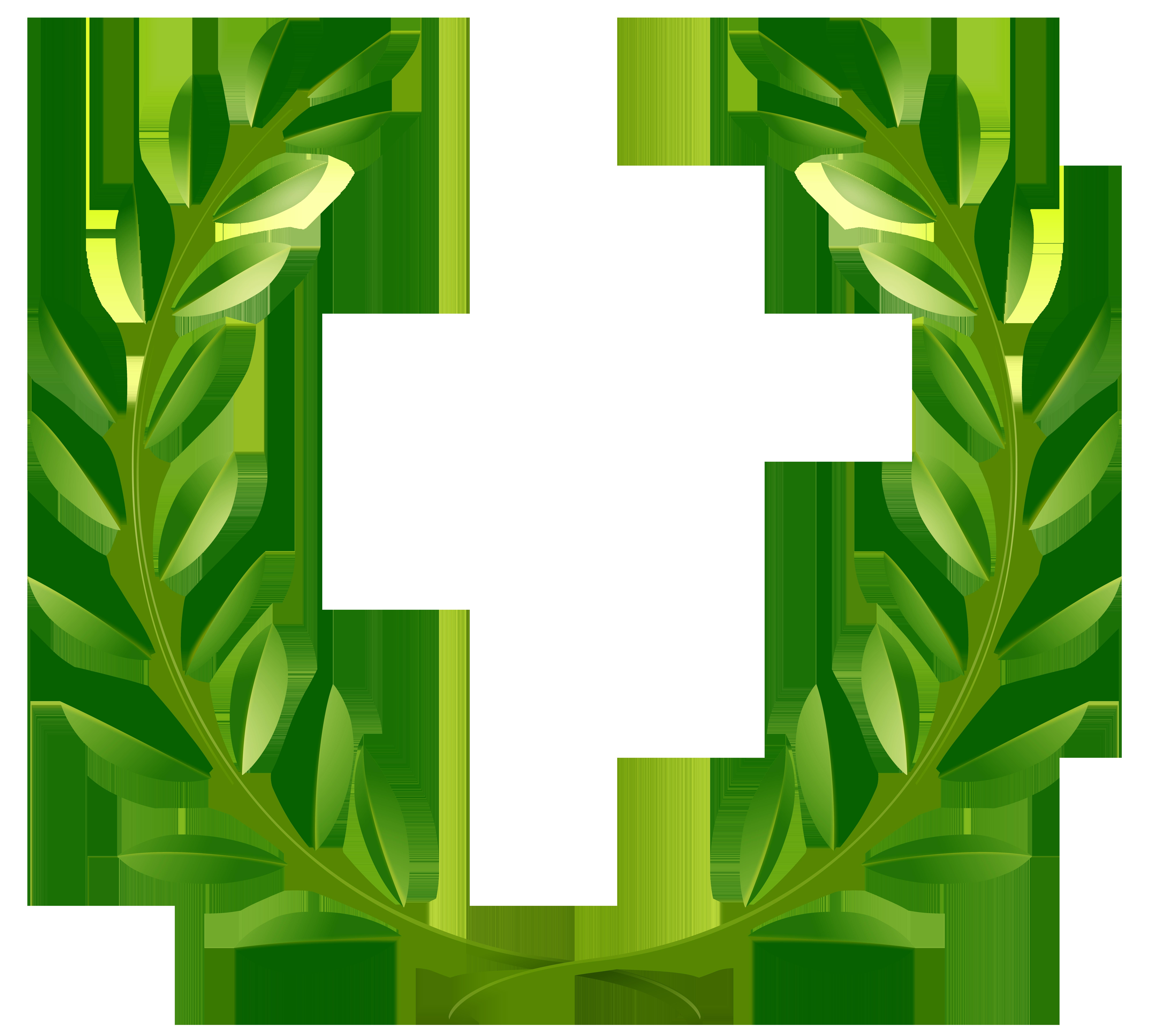 banner transparent download Green laurel leaves png. Laurels vector olympic