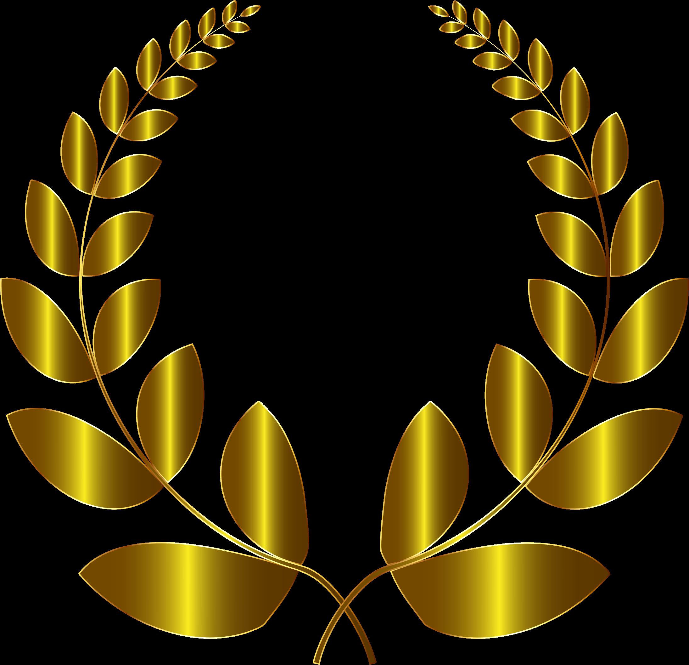 clipart transparent Gold wreath no background. Laurel clipart.