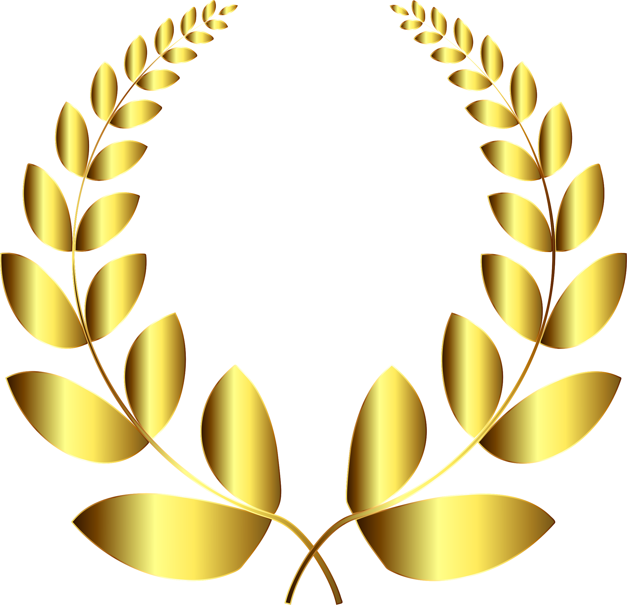 graphic transparent library Gold wreath no background. Laurel clipart clip art.