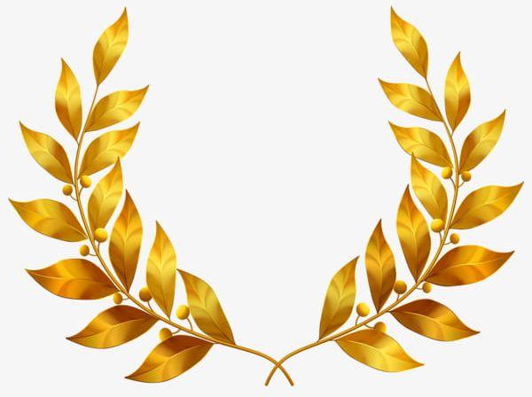 clip art library Laurel clipart leaf. Golden leaves png gold.