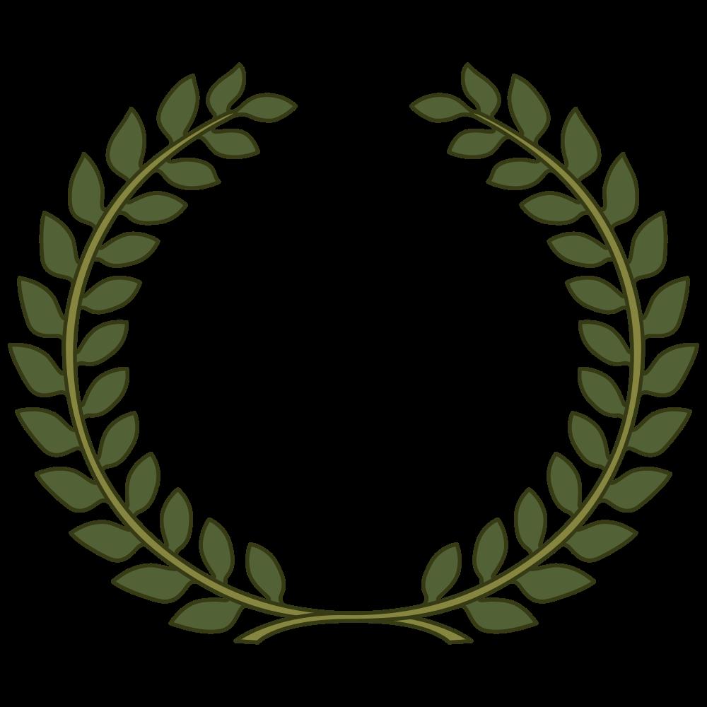 clipart black and white Onlinelabels clip art wreath. Laurel clipart leaf.