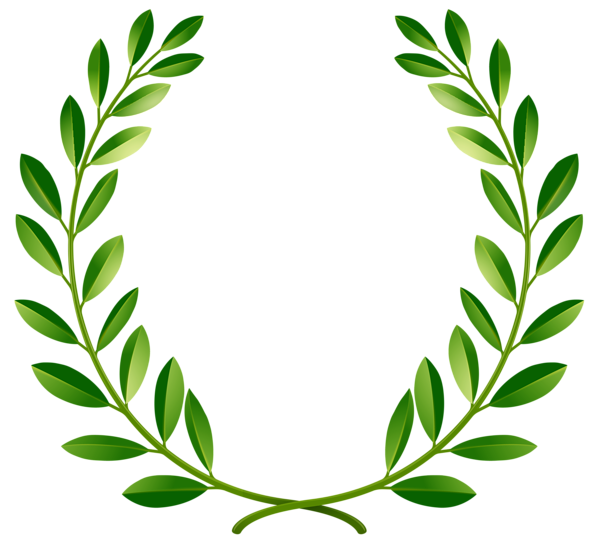 vector free Laurel leaves png clip. Green wreath clipart