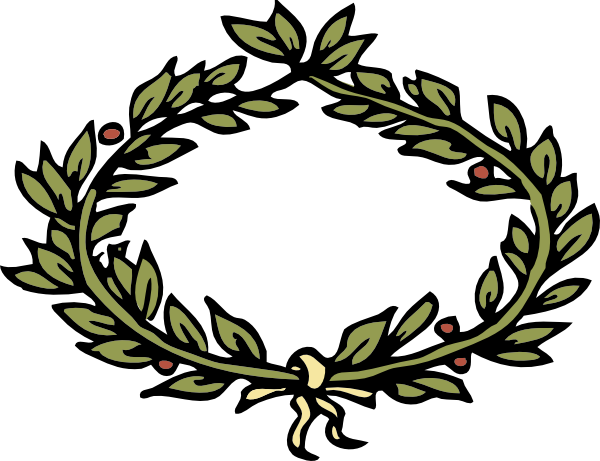 image library Vines crown clip art. Leaf wreath clipart