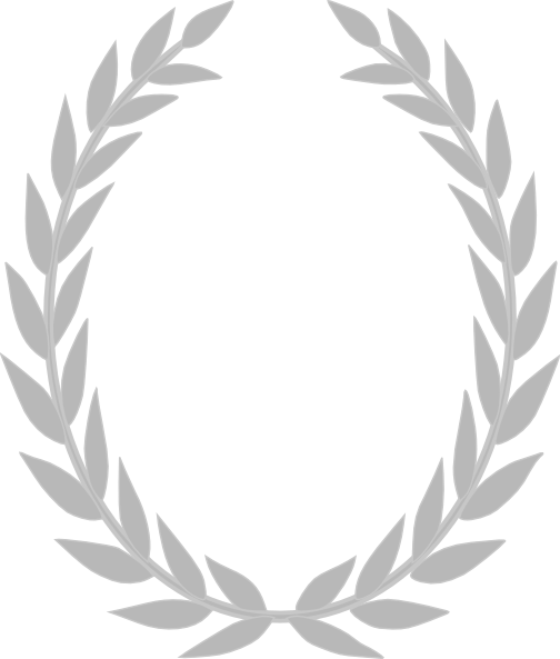clip download Grey Laurel Wreath Clip Art at Clker