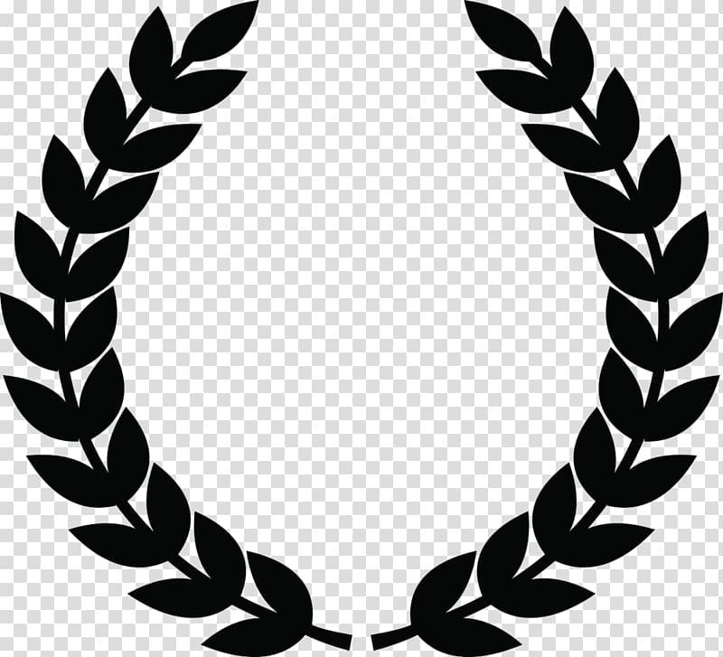 image black and white Olive icon transparent . Laurel wreath clipart