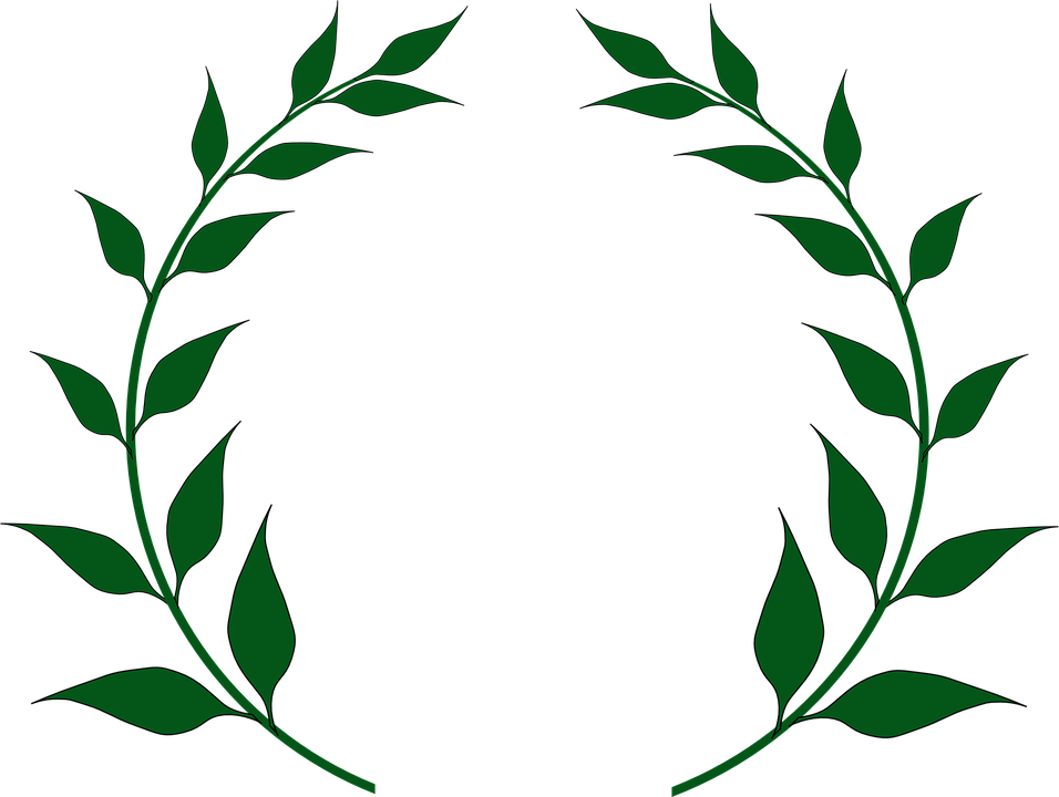 graphic freeuse download Vector crest leaf. Collection of free laurel