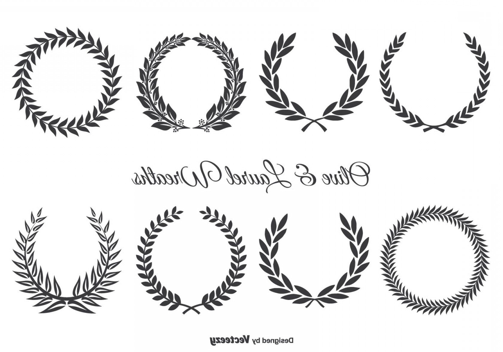 clip stock Olive and laurel wreath. Laureles vector