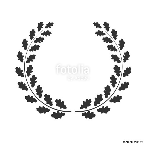 clipart transparent download Vector oak wreath isolated