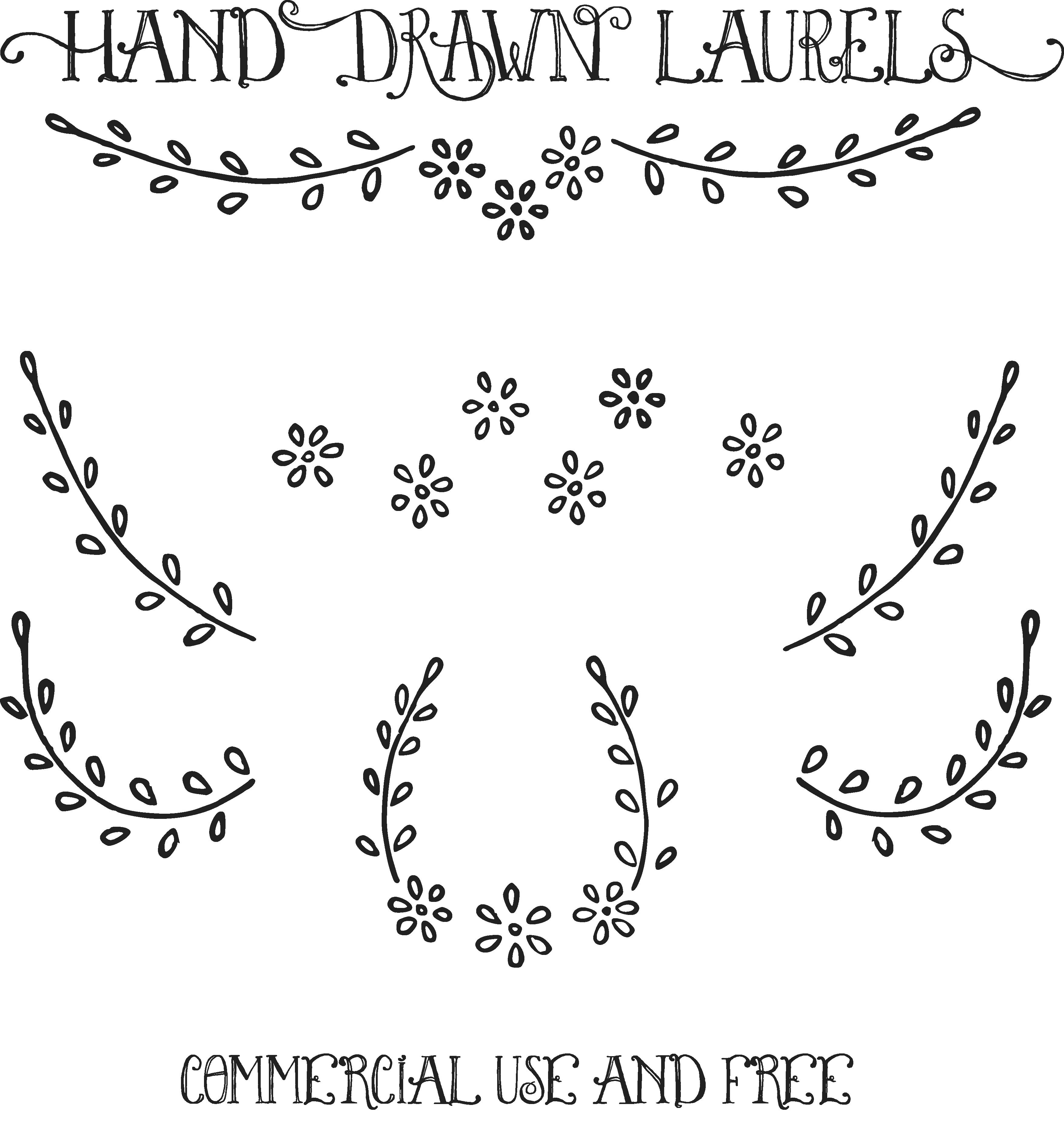 jpg download laureles vector hand drawn #98826363