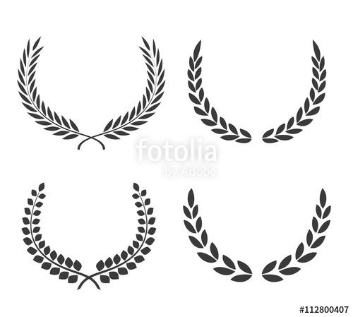 jpg royalty free library Vector crest leaf. Logo element set of