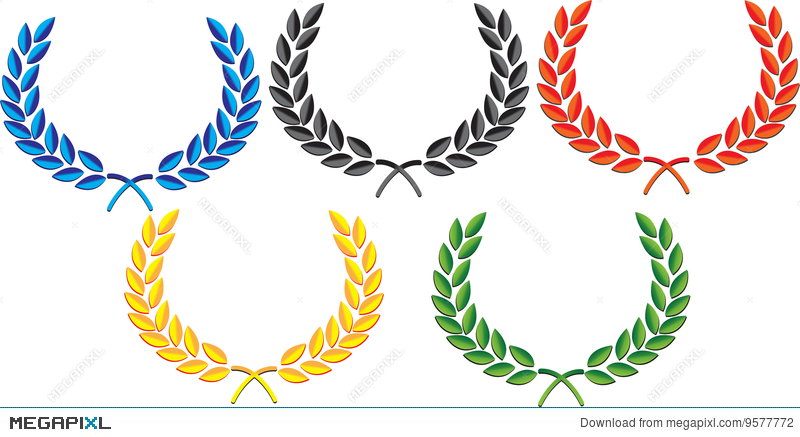 clip freeuse stock Laurels vector olympic. Laurel wreath illustration megapixl