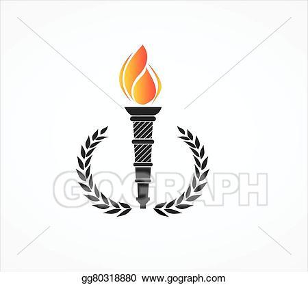 svg download Clip art torch stock. Laurels vector olympic