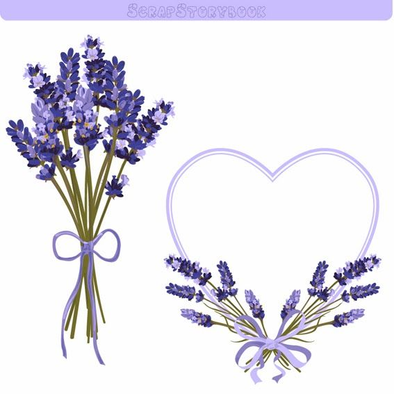 picture free library Lavender border clipart. Flower clip art
