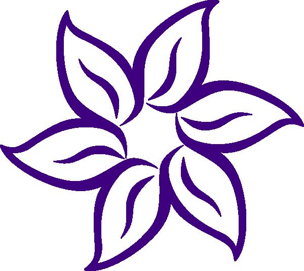 vector free Purple flower border clip. Lavender clipart