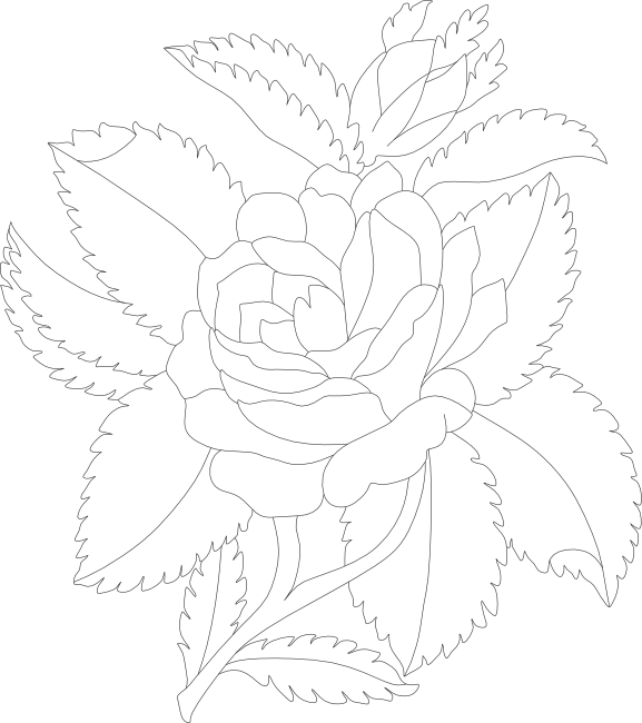 svg free stock Lavender clipart black and white. Free rose animations vectors.