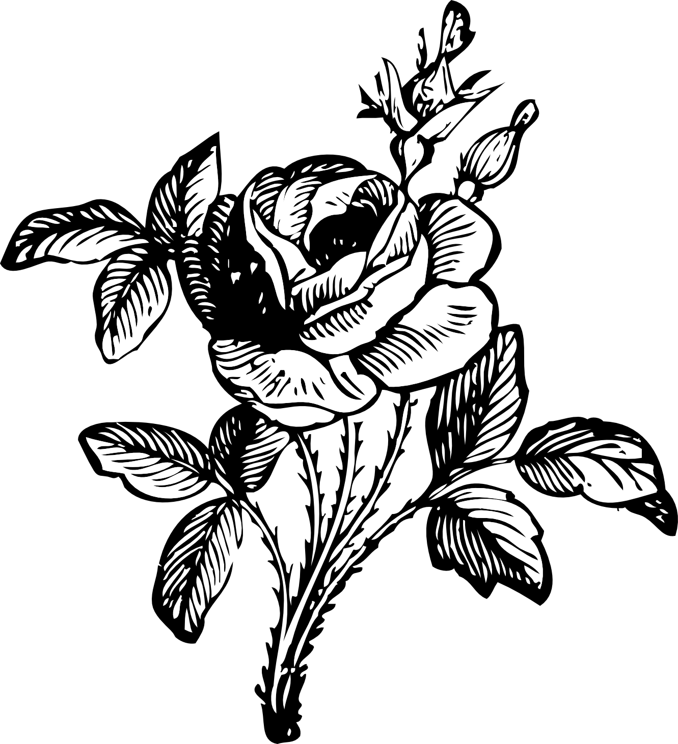 svg royalty free library Flower bouquet panda free. Tumblr clipart black and white