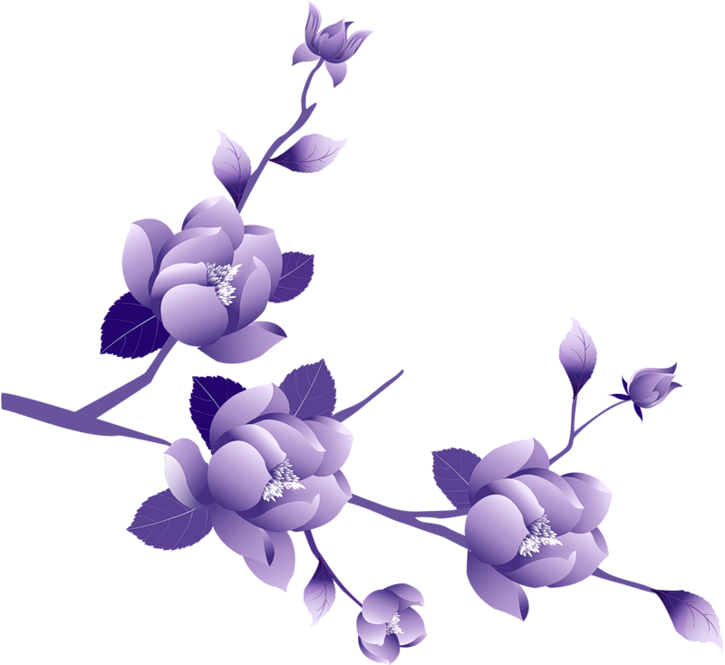 picture black and white library Lavender clipart bunga. Purple rose free on.