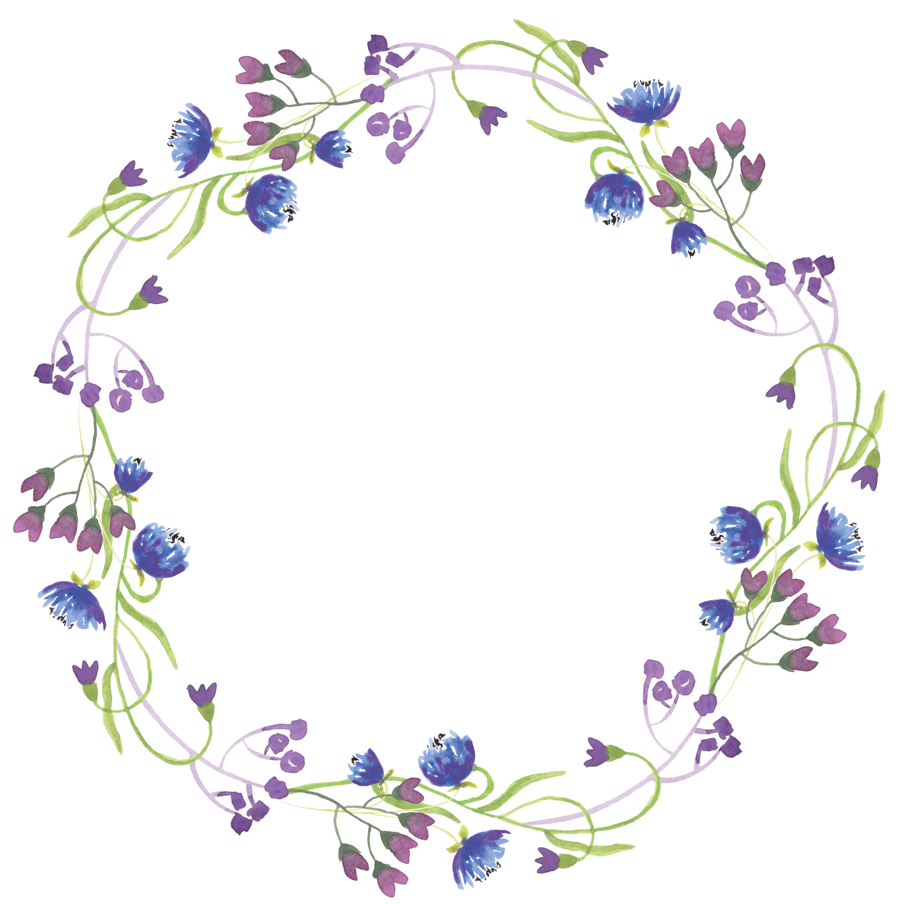 graphic freeuse library Lavender border clipart. Flower clip art round