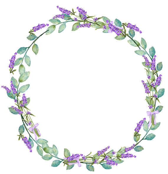 vector royalty free download Purple floral . Lavender wreath clipart