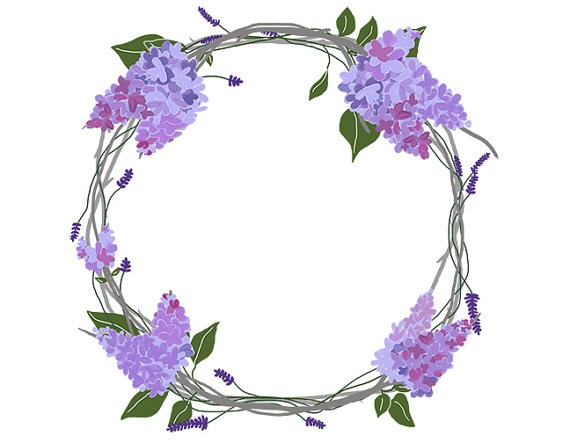 black and white download Free cliparts download clip. Lavender wreath clipart