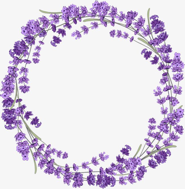banner freeuse library Lavender wreath clipart. Purple png transparent