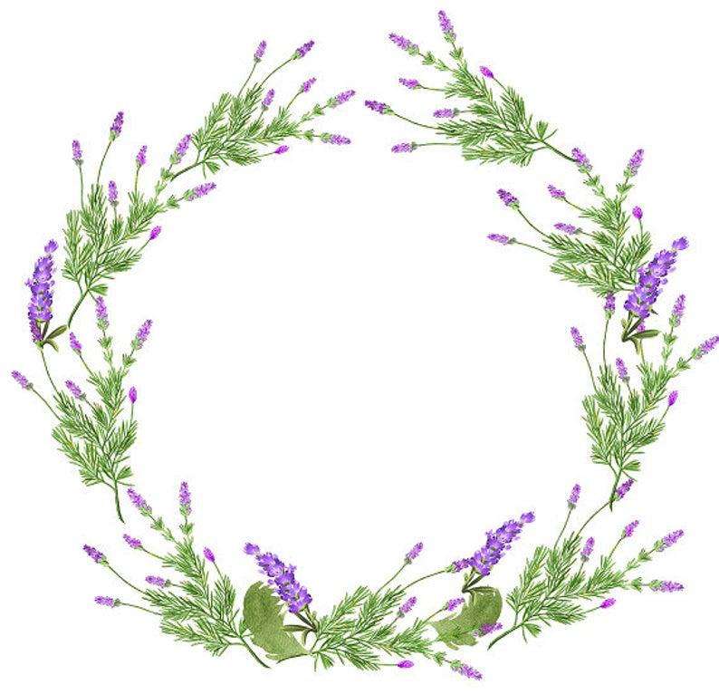clip royalty free library Download free png digital. Lavender wreath clipart