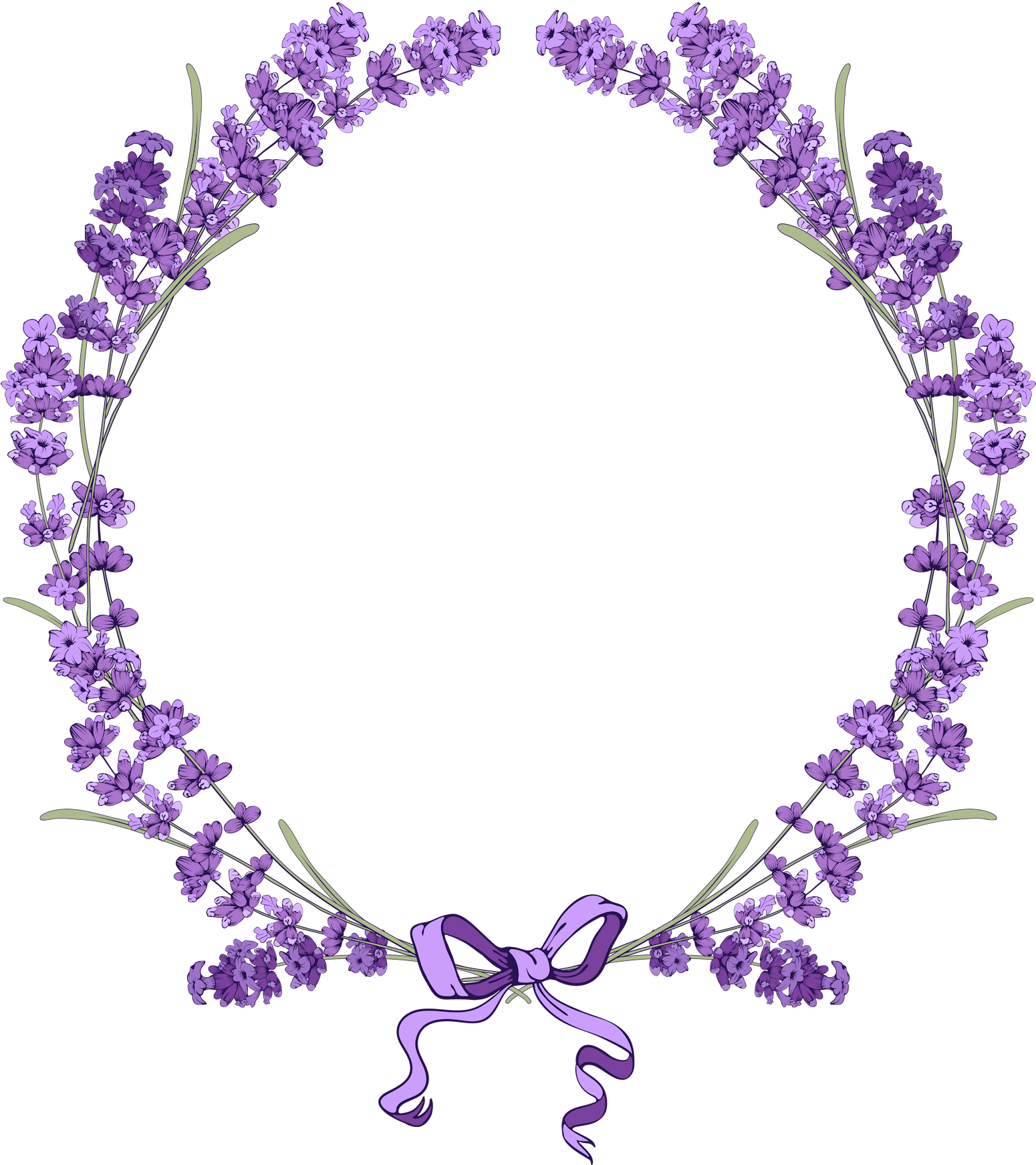 graphic library stock Pin by on pinterest. Lavender wreath clipart