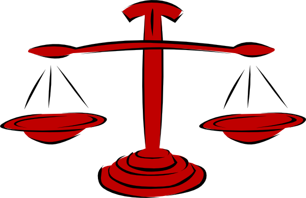 clip Law clipart. Red legal scales clip