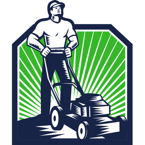 png black and white Lawn care clipart. Clip art