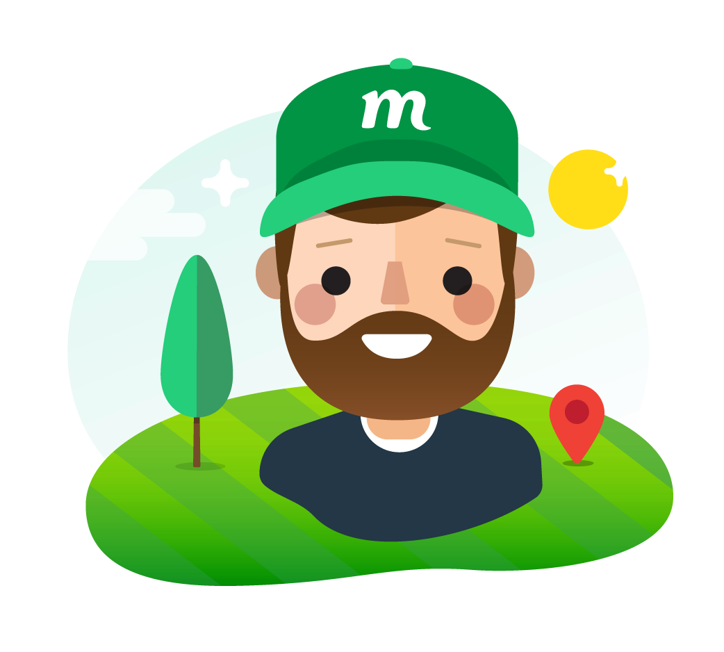 png free download Mowdo on demand app. Lawn care clipart happy.