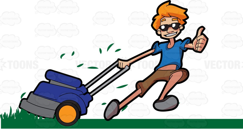 vector freeuse stock Free download best on. Lawn care clipart happy.