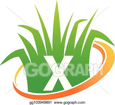 svg transparent download Lawn care clipart high grass. Eps vector center initial.