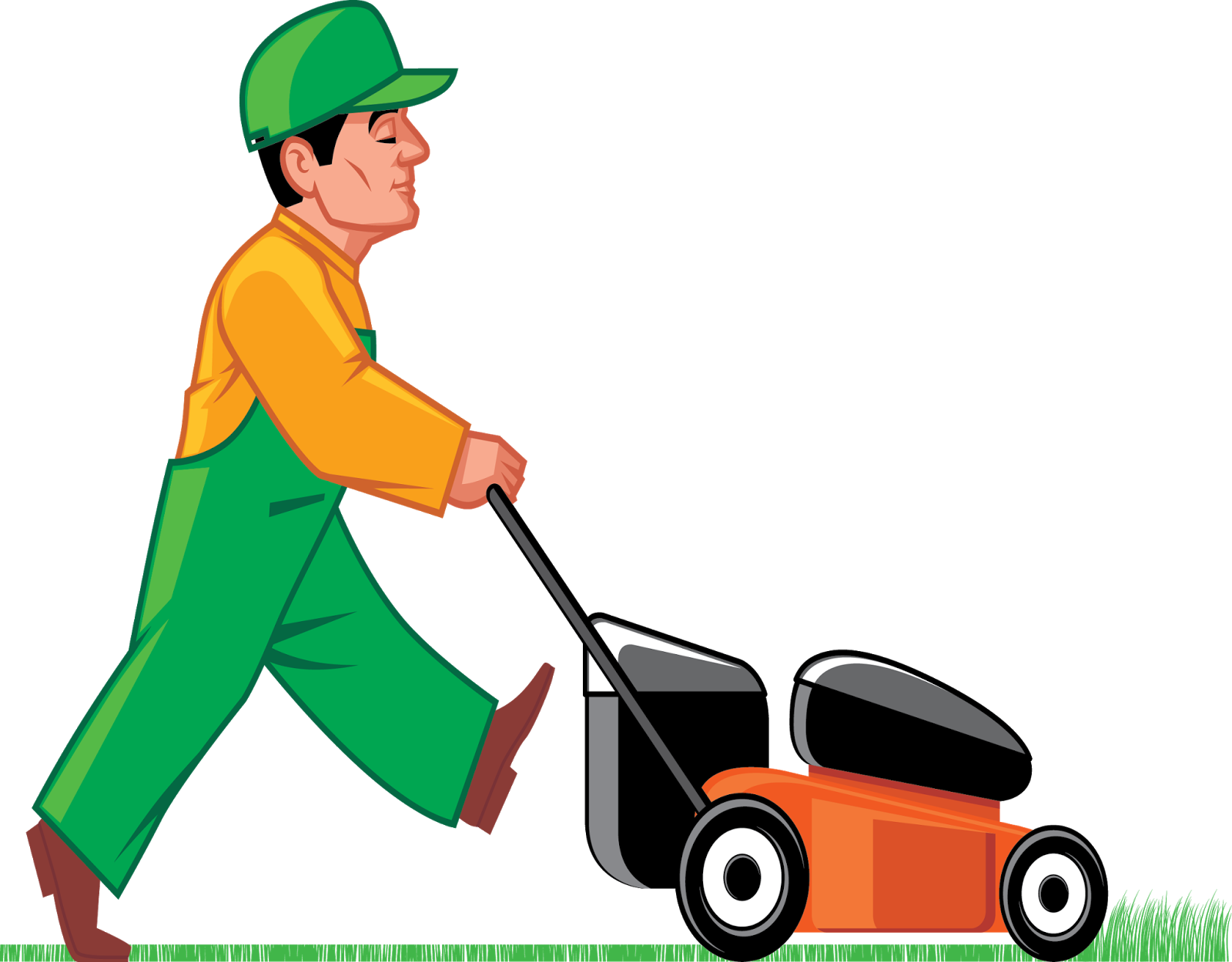 graphic black and white stock Mi padre tiene que. Lawn mower clipart grass cutter.